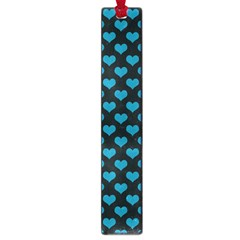 Blue Hearts Valentine s Day Pattern Large Book Marks