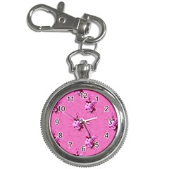 Pink Floral Pattern Key Chain Watches
