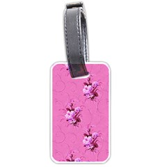 Pink Floral Pattern Luggage Tags (Two Sides)
