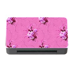 Pink Floral Pattern Memory Card Reader With Cf