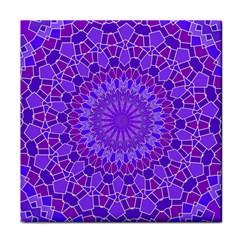 Purple Mandala Tile Coasters