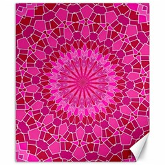 Pink and Red Mandala Canvas 8  x 10