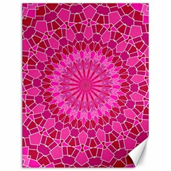 Pink and Red Mandala Canvas 12  x 16