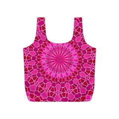 Pink and Red Mandala Full Print Recycle Bags (S)