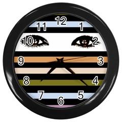 Peekaboo Wall Clock black