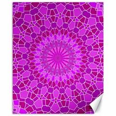 Purple and Pink Mandala Canvas 11  x 14