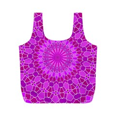 Purple and Pink Mandala Full Print Recycle Bags (M)