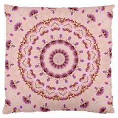 Pink and Purple Roses Mandala Large Cushion Cases (Two Sides)