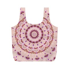 Pink and Purple Roses Mandala Full Print Recycle Bags (M)
