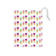 Icecream Cones Drawstring Pouches (Medium)