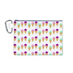 Icecream Cones Canvas Cosmetic Bag (M)