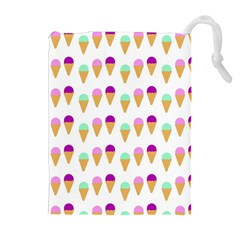 Icecream Cones Drawstring Pouches (extra Large)
