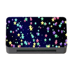 Pretty Stars Pattern Memory Card Reader With Cf