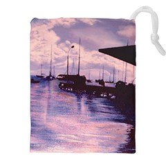 Harbor Of Fort De France Drawstring Pouches (XXL)