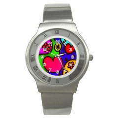 Colorful Modern Love 2 Stainless Steel Watches
