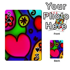 Colorful Modern Love 2 Playing Cards 54 Designs