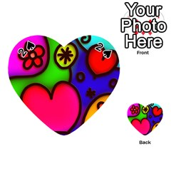 Colorful Modern Love 2 Playing Cards 54 (Heart)