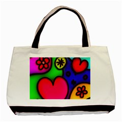Colorful Modern Love 2 Basic Tote Bag (Two Sides)