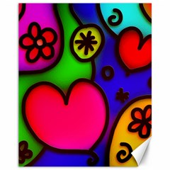 Colorful Modern Love 2 Canvas 11  x 14
