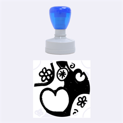Colorful Modern Love 2 Rubber Round Stamps (Medium)