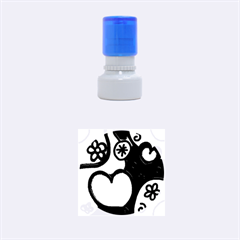 Colorful Modern Love 2 Rubber Round Stamps (small)