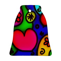 Colorful Modern Love 2 Ornament (bell)