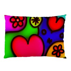 Colorful Modern Love 2 Pillow Cases (Two Sides)