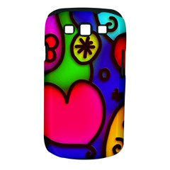 Colorful Modern Love 2 Samsung Galaxy S III Classic Hardshell Case (PC+Silicone)