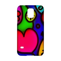 Colorful Modern Love 2 Samsung Galaxy S5 Hardshell Case