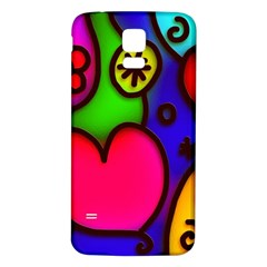 Colorful Modern Love 2 Samsung Galaxy S5 Back Case (white)