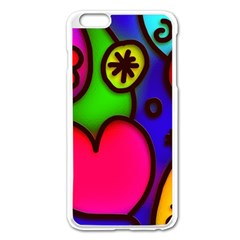 Colorful Modern Love 2 Apple Iphone 6 Plus/6s Plus Enamel White Case