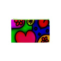 Colorful Modern Love 2 Cosmetic Bag (xs)