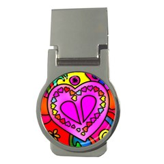 Colorful Modern Love Money Clips (Round)