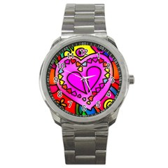 Colorful Modern Love Sport Metal Watches