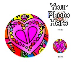 Colorful Modern Love Playing Cards 54 (round)