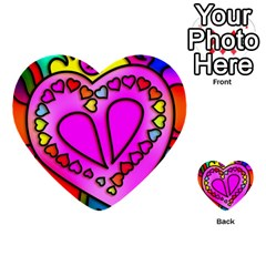 Colorful Modern Love Multi Purpose Cards (heart)