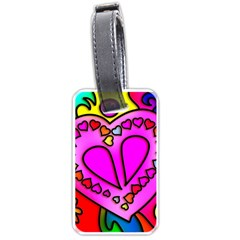 Colorful Modern Love Luggage Tags (Two Sides)
