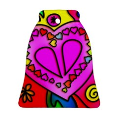 Colorful Modern Love Bell Ornament (2 Sides)