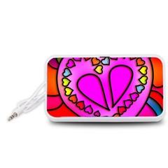Colorful Modern Love Portable Speaker (White)