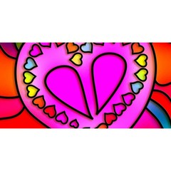 Colorful Modern Love YOU ARE INVITED 3D Greeting Card (8x4)