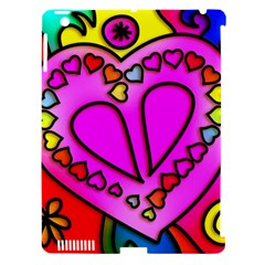 Colorful Modern Love Apple iPad 3/4 Hardshell Case (Compatible with Smart Cover)