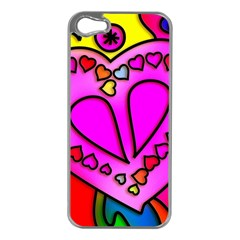 Colorful Modern Love Apple iPhone 5 Case (Silver)