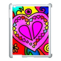 Colorful Modern Love Apple iPad 3/4 Case (White)