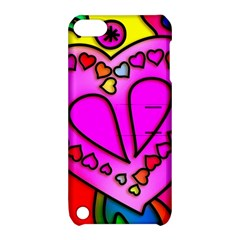 Colorful Modern Love Apple iPod Touch 5 Hardshell Case with Stand