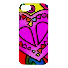 Colorful Modern Love Apple iPhone 5S Hardshell Case