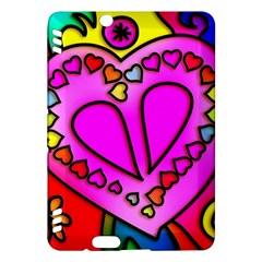 Colorful Modern Love Kindle Fire HDX Hardshell Case
