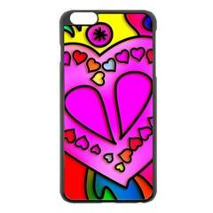 Colorful Modern Love Apple Iphone 6 Plus/6s Plus Black Enamel Case