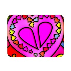 Colorful Modern Love Double Sided Flano Blanket (Mini)