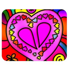 Colorful Modern Love Double Sided Flano Blanket (medium)