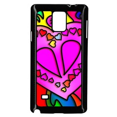 Colorful Modern Love Samsung Galaxy Note 4 Case (Black)